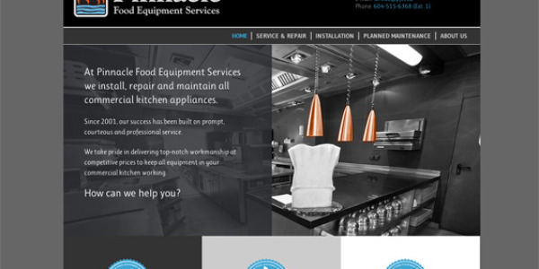 Pinnacle Food Equipment Services – Design, Build & FileMaker Integration – http://pinnaclefoodequipment.com/